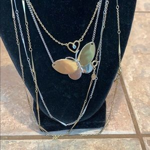 Avon 5 lot bundle gold silver butterfly heart cz